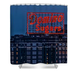Domino Sugars Sign Shower Curtain by Wayne King