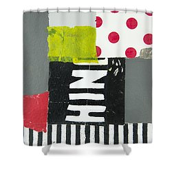 Dots And Stripes Shower Curtain