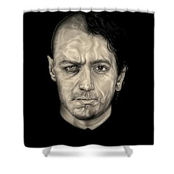 Double Jeopardy Shower Curtain by Fred Larucci