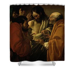 Doubting Thomas Shower Curtain