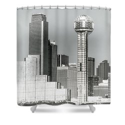 Shower Curtain featuring the photograph Downtown Dallas by Joan Bertucci