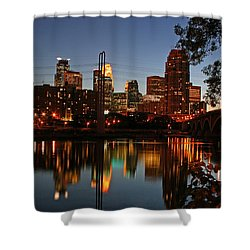 Downtown Minneapolis At Night Shower Curtain