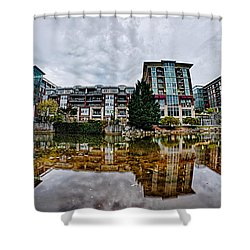 Downtown Of Greenville South Carolina Around Falls Park Shower Curtain