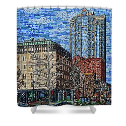 Downtown Raleigh - Fayetteville Street Shower Curtain by Micah Mullen