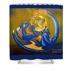 Dragon And Captured Fairy Shower Curtain