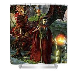 Dragon Queen Shower Curtain