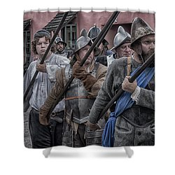 Drakes Raid Of St Augustine Fl Pikes Shower Curtain