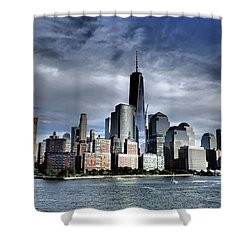 Dramatic New York City Shower Curtain