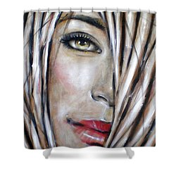 Shower Curtain featuring the painting Dream In Amber 120809 by Selena Boron