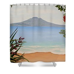 Dreaming Of Rangitoto Shower Curtain