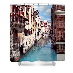 Dreaming Of Venice Panorama Shower Curtain