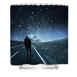 Dreams Shower Curtain by Berebel Co By Angel Caulin