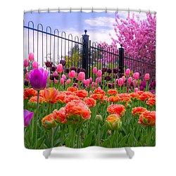 Dreamy Tulip Garden Shower Curtain