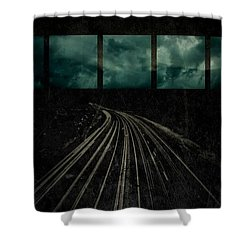 Drifting Shower Curtain