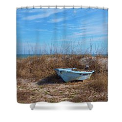 Dry Docked Shower Curtain by Bob Sample