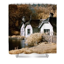 Duck Island Cottage Shower Curtain