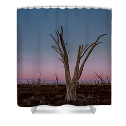 Shower Curtain featuring the photograph Dusk At Dumbleyung Lake by Julian Cook