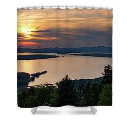 Dusk, Mooselookmeguntic Lake, Rangeley, Maine  -63362-63364 Shower Curtain