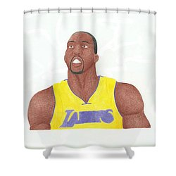 Dwight Howard Shower Curtain by Toni Jaso