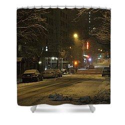 E 38th Street Between Lexington And 3rd Avenue Manhattan New York Shower Curtain