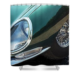 Shower Curtain featuring the photograph E-type by Dennis Hedberg