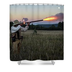 Early 1800's Flintlock Muzzleloader Blast Shower Curtain
