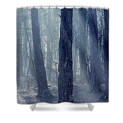 Good Morning World Shower Curtain