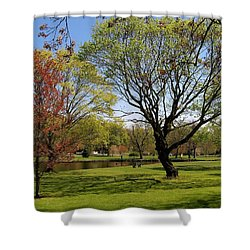Early Spring Shower Curtain by John Scates