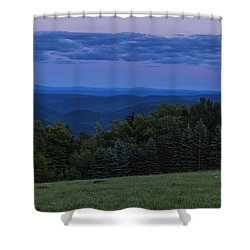 Shower Curtain featuring the photograph East Dover Full Moon by Tom Singleton