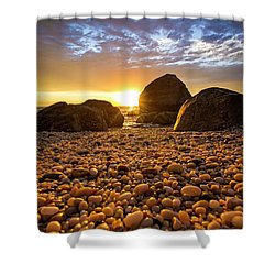 East Marion Sunset Shower Curtain