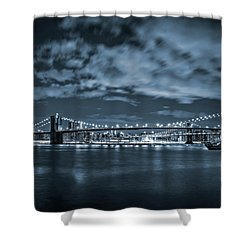 Shower Curtain featuring the photograph East River View by Az Jackson