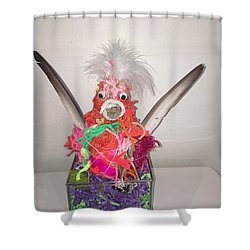 Sold Funky Chicken Shower Curtain