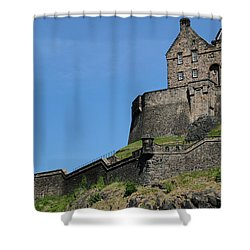 Shower Curtain featuring the photograph Edinburgh Castle by Jeremy Lavender Photography