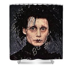 Edward Scissorhands Shower Curtain by Taylan Apukovska