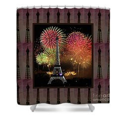 Effel Tower Paris France Landmark Photography Towels Pillows Curtains Tote Bags Shower Curtain