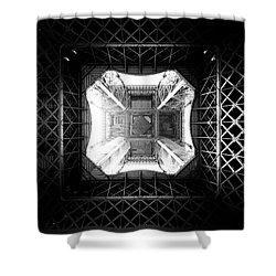 Shower Curtain featuring the photograph Eiffel Tower by Dave Beckerman