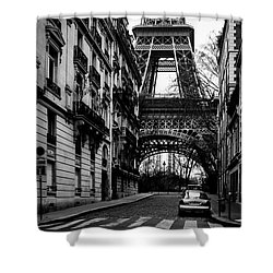 Only In Paris Shower Curtain