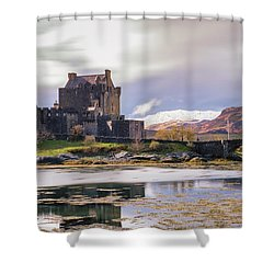 Eilean Donan Castle, Dornie, Kyle Of Lochalsh, Isle Of Skye, Scotland, Uk Shower Curtain