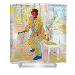 Elton John Shower Curtain by Martin Cohen