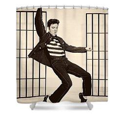 Elvis Presley In Jailhouse Rock 1957 Shower Curtain by Mountain Dreams