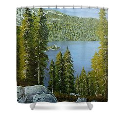 Emerald Bay - Lake Tahoe Shower Curtain