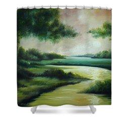 Emerald Forest Shower Curtain