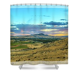 Shower Curtain featuring the photograph Emmett Valley by Robert Bales