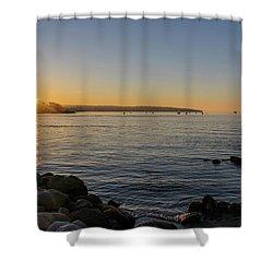 English Bay Sunset Shower Curtain