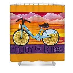 Shower Curtain featuring the painting Enjoy The Ride by Carla Bank