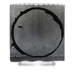 Shower Curtain featuring the digital art Enso 2017-27 by Julie Niemela