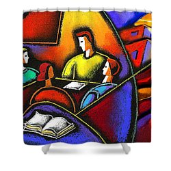 Shower Curtain featuring the painting Enterprise by Leon Zernitsky