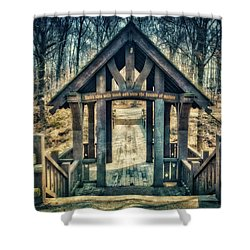 Entrance To Seven Bridges - Grant Park - South Milwaukee #3 Shower Curtain by Jennifer Rondinelli Reilly - Fine Art Photography