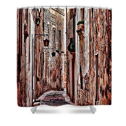 Shower Curtain featuring the photograph Etched In Stone by Tom Prendergast