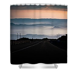 Etna Road Shower Curtain by Bruno Spagnolo